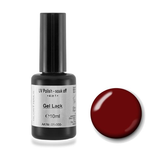 4 in 1 - UV Gel Lack-soak off, 10ml cherry red