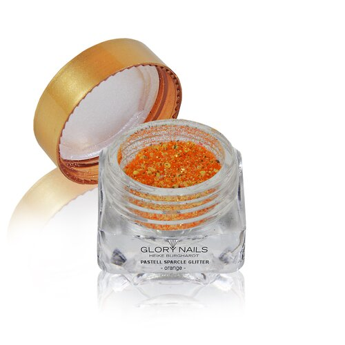 Pastell Sparcle Glitter - orange