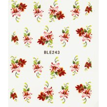 One Stroke Decal - Blumen rot- (BLE243)