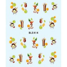 Decal - Cocktail & Fruits  (BLE414)
