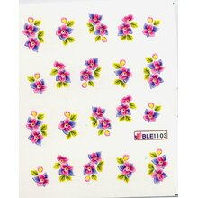 Decal - Blüten lila/pink (BLE1103)