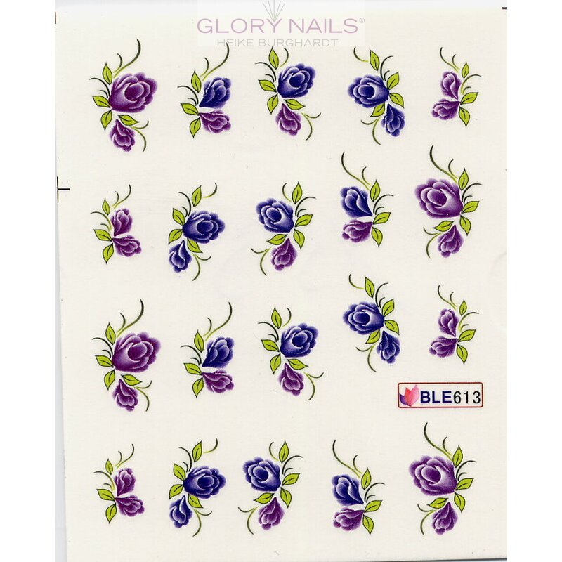 Wandfarbe Violett Lila Kolorat Eine Auswahl In Lila: Blumen Violett/lila & Blätter (BLE613), 1,89
