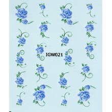 One Stroke Decal - Rose blau (IGW021/BLE043)