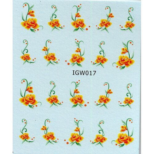 Decal - Rose orange (IGW017)