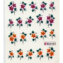 Decal -  Christstern, violett/orange (BLE1481)
