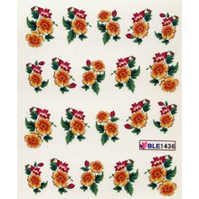 Decal -  Blume, orange/rot (BLE1436)
