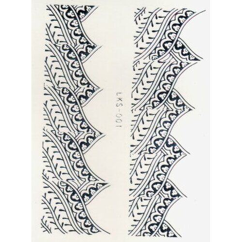 Silver Nail Tattoo-French (LKS-001)