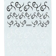 Black & White - Nail Decal - (D095)