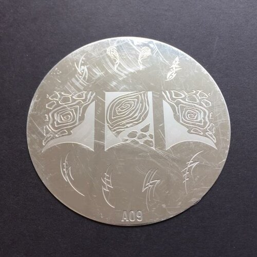 Stamping Schablone 7cm - A09