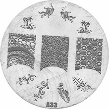 Stamping Pattern 7cm - A33
