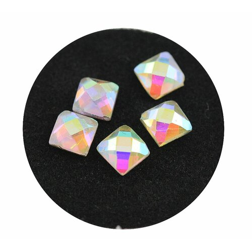 Glas Rhinestone shapes -Square- 03