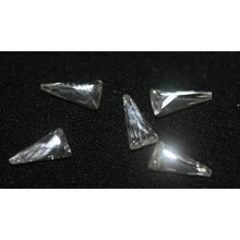 Glas Rhinestone Shapes, crystal -  triangle