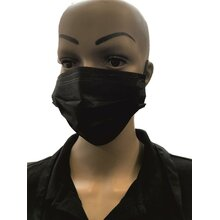Hygiene mask, 3-layers black